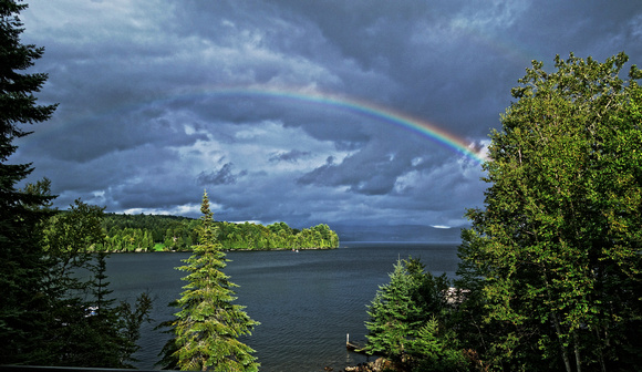 "Rainbow Over Rangeley 24""x36"""